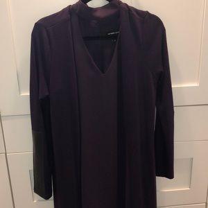 fifteen twenty Sweaters - Fifteen Twenty long leather patch duster NWT